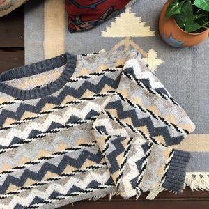 Vintage Chunky Knit Grandpa Oversize Sweater